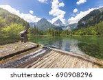 at the schiederweiher in... | Shutterstock . vector #690908296
