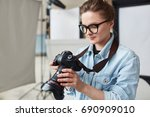 self employed stock... | Shutterstock . vector #690909010
