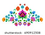 folk embroidery ornament with... | Shutterstock .eps vector #690912508