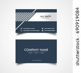 simple business card template ... | Shutterstock .eps vector #690919084