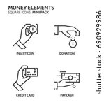 money elements  square mini... | Shutterstock .eps vector #690929986