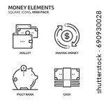 money elements  square mini... | Shutterstock .eps vector #690930028