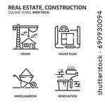 real estate  square mini icon... | Shutterstock .eps vector #690930094