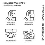 human resources  square mini... | Shutterstock .eps vector #690930118