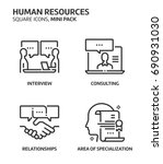 human resources  square mini... | Shutterstock .eps vector #690931030