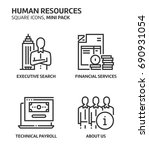 human resources  square mini... | Shutterstock .eps vector #690931054