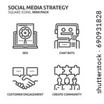 social media strategy  square... | Shutterstock .eps vector #690931828