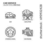 car service  square mini icon... | Shutterstock .eps vector #690932428
