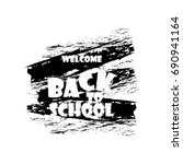 vector illustration of back to... | Shutterstock .eps vector #690941164