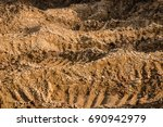 clay and sand in the quarry.... | Shutterstock . vector #690942979