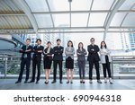 business team office worker... | Shutterstock . vector #690946318