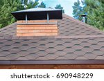modern roofing and decoration... | Shutterstock . vector #690948229