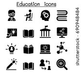learning   education icons  | Shutterstock .eps vector #690948484