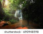 dat fah waterfall  phu wiang... | Shutterstock . vector #690948598