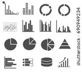business data icons set vector | Shutterstock .eps vector #690949234