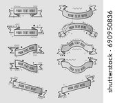 collection of styled memphis... | Shutterstock .eps vector #690950836