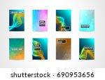 a4 brochure cover mininal...   Shutterstock . vector #690953656
