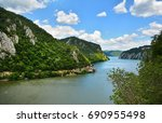 spectacular danube gorges  also ... | Shutterstock . vector #690955498