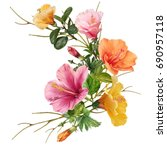 illustration of beautiful... | Shutterstock . vector #690957118