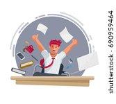 successful happy businessman... | Shutterstock .eps vector #690959464