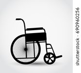 wheelchair medical care flat... | Shutterstock .eps vector #690960256