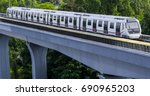 malaysia mrt  mass rapid... | Shutterstock . vector #690965203