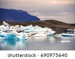 scenic view onto melting...   Shutterstock . vector #690975640