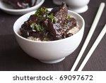 mini spare pork ribs in a...   Shutterstock . vector #69097672