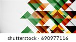 triangle pattern design... | Shutterstock .eps vector #690977116