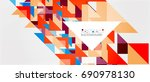 triangle pattern design... | Shutterstock .eps vector #690978130
