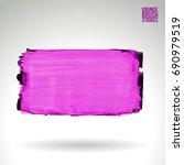 purple brush stroke and texture....   Shutterstock .eps vector #690979519