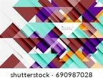 triangle pattern design... | Shutterstock . vector #690987028