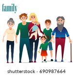 family vector  the father... | Shutterstock .eps vector #690987664