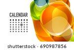 modern geometric presentation... | Shutterstock . vector #690987856