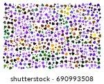 purple flowers abstract vector... | Shutterstock .eps vector #690993508