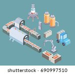 automated production line.... | Shutterstock .eps vector #690997510