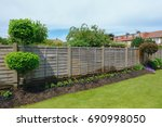 Flower Bed With Garden Fence...