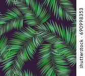 palm leaf vector background... | Shutterstock .eps vector #690998353