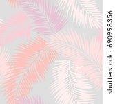pink palm leaf vector... | Shutterstock .eps vector #690998356