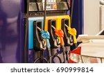 pump nozzles in a service... | Shutterstock . vector #690999814