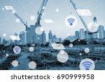 modern and wireless sensor... | Shutterstock . vector #690999958