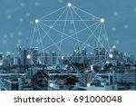 modern and wireless sensor... | Shutterstock . vector #691000048