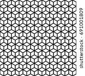 vector seamless pattern. cubes... | Shutterstock .eps vector #691001809