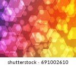 art bokeh hexagon | Shutterstock . vector #691002610