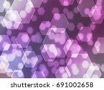 hexagon background | Shutterstock . vector #691002658