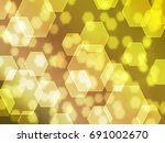 gold hexagon background | Shutterstock . vector #691002670