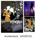 backgrounds set with copyspace...   Shutterstock .eps vector #69100723