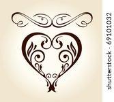 retro ornament calligraphic... | Shutterstock .eps vector #69101032