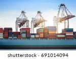 logistics import export... | Shutterstock . vector #691014094