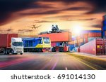 logistics import export... | Shutterstock . vector #691014130